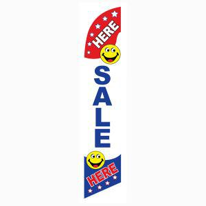 Here Sale Here feather flag outdoor advertising banner style flag.