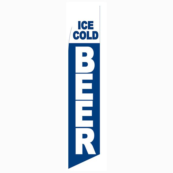 Use this Ice Cold Beer Feather Flag if your serve great beer.