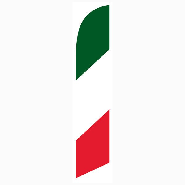 The Italy (Italian) feather flag is perfect for restaurants.