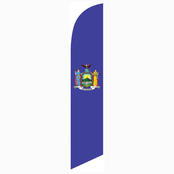 New York state feather flag - perfect for all outdoor décor purposes.