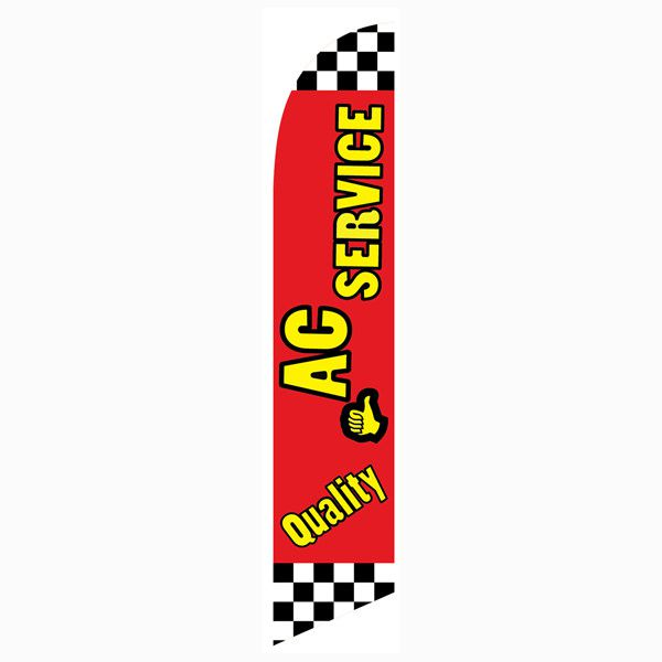 Use this quality AC Service Feather Flag to increase your sales today.