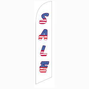 Patriotic Holiday sale feather flag for longterm outdoor advertising.