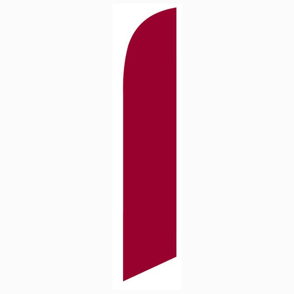 Low cost and easy to install solid burgundy feather flag for outdoor decoration.