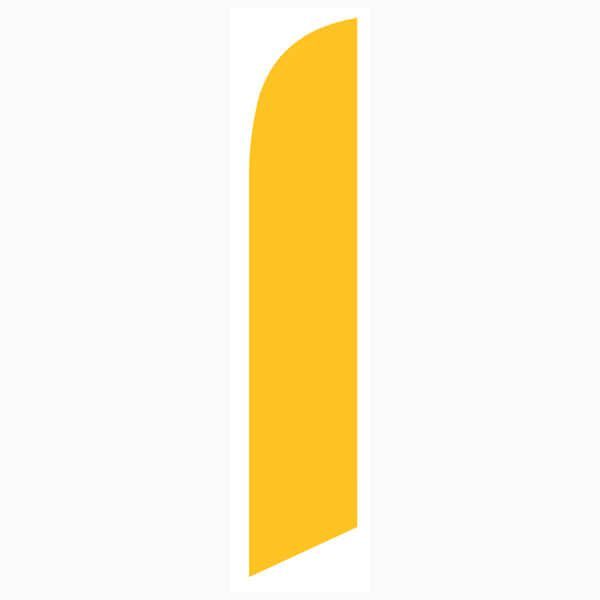 Our gold feather flag  is popular among universities with gold in their brand.