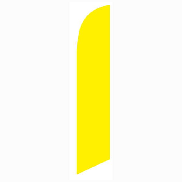 This bright yellow feather flag is used by many home and business owners.