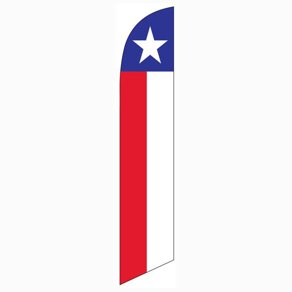 Outdoor décor Texas Feather Flag - show your pride!  Very easy to install.