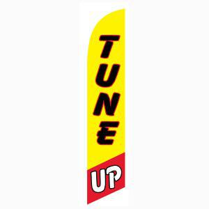 Yellow and Red Tune Up Outdoor Advertising Feather Banner Flag