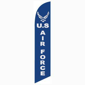 Air Force feather flag is the perfect outdoor décor for homes or businesses.
