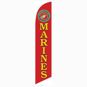 Marines feather flag is the perfect outdoor décor for all vets.