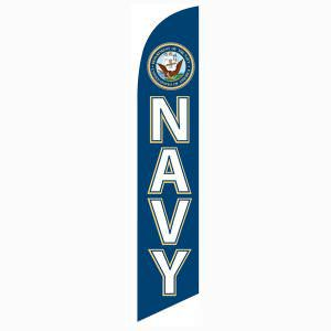 Quickly and effortlessly install this Navy Feather Flag to your lawn.