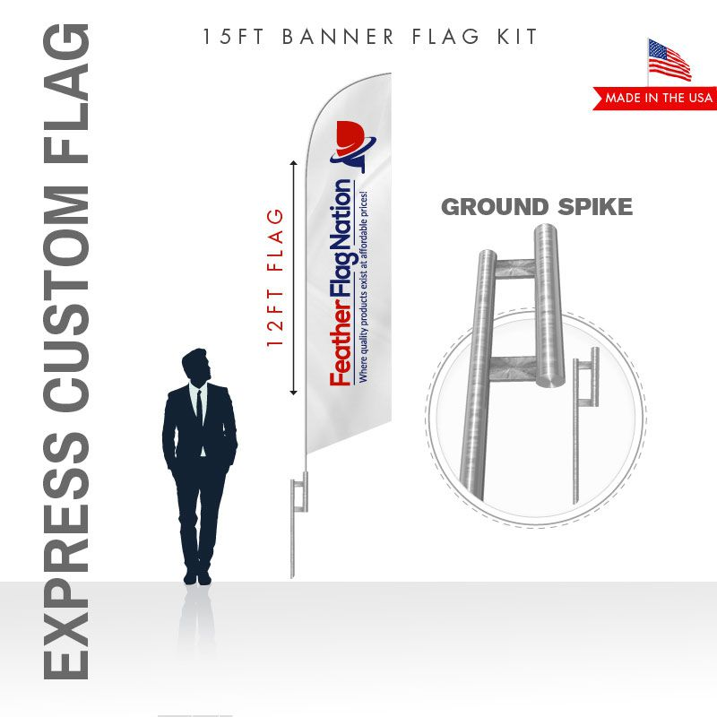 Cheap Feather Flag - The Express Flag