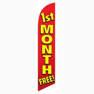 Bring in more long term contracts with this 1st month free feather flag
