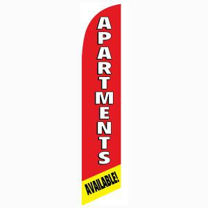 Use this Apartments available feather flag to notify your community of vacancy