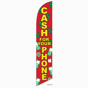 Cash for your phone feather flag for your outdoor advertising needs.
