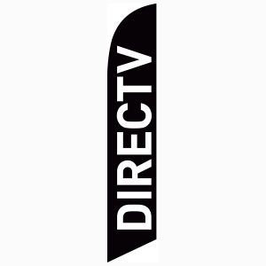 Black Directv feather flag to use outside your AT&T and DTV store.