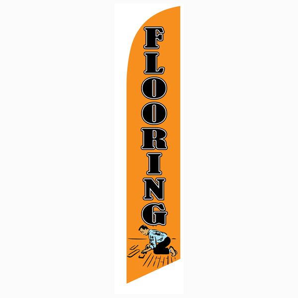 Our Flooring orange feather flag will help you increase your sales with ease