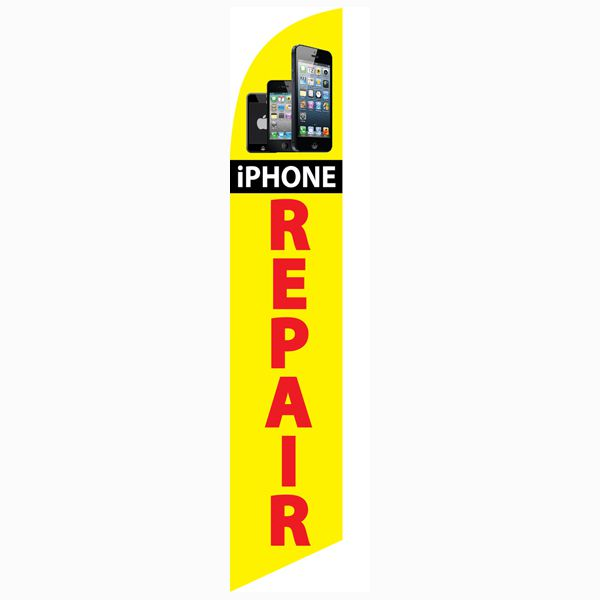 Iphone repair feather flag to bring in more customers to your repair store.