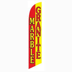 Advertis to your local community with this Marble Granite feather flag