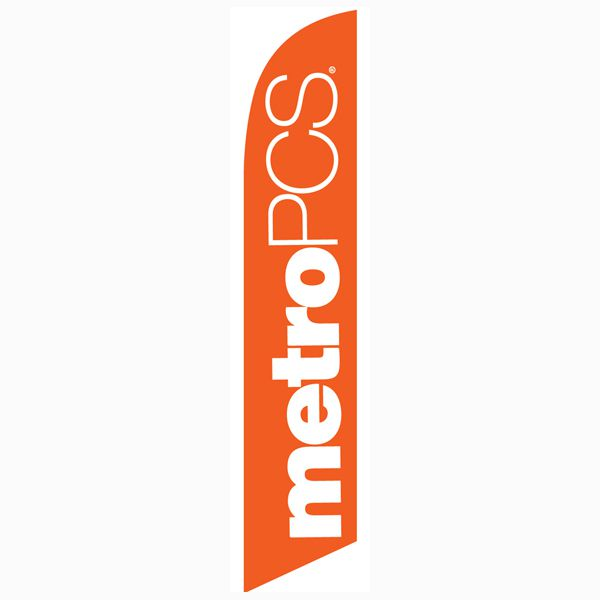 MetroPCS Orange Feather Flag is a must have for all authorized dealers.