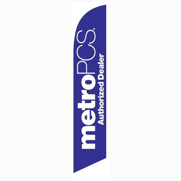 MetroPCS Authorized Dealer purple Feather Flag for authorized dealers only.