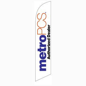 MetroPCS Authorized Dealer white Feather Flag to display outside your business.