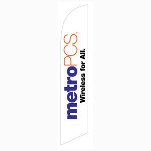 MetroPCS Wireless for All white Banner Flag to use as an advertising tool.