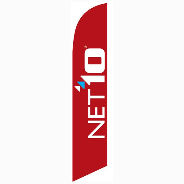 Net10 Wireless red feather flag is a must have for all authorized dealers.