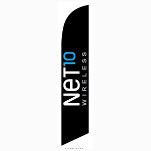 Net10 Wireless black Feather Flag is our new design for outdoor advertising.