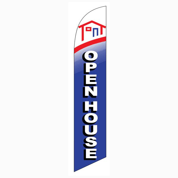 Use this Open House feather flag in front of your house for sale.  Sell faster.