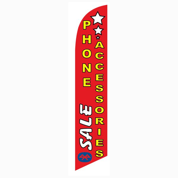Sale Phone Accessories Feather Flag to use as your outdoor advertising flag.