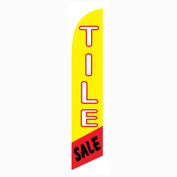 Use our Tile Sale feather flag to increase your traffic and sales.  Easy to install.