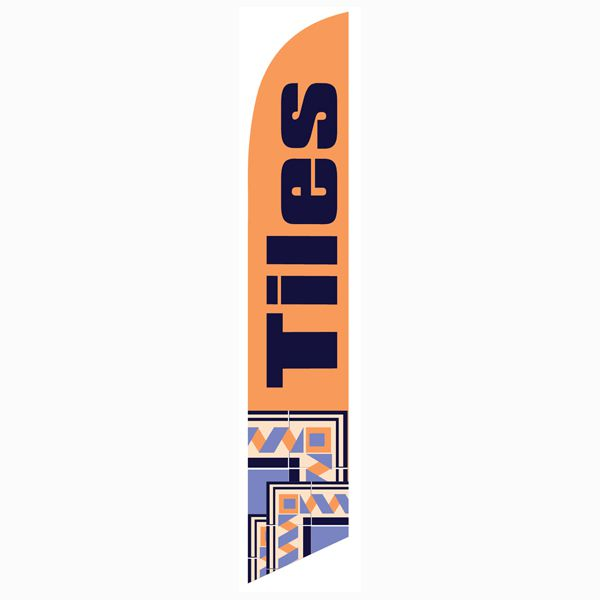 This Tiles sale banner flag is great for your outdoor advertising campaign