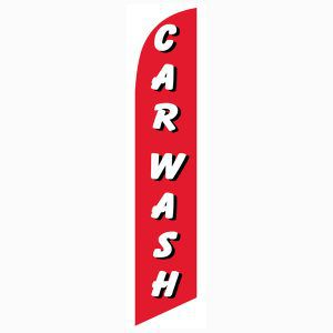 Use our Car wash red white feather flag to increase your sales.  Easy install!