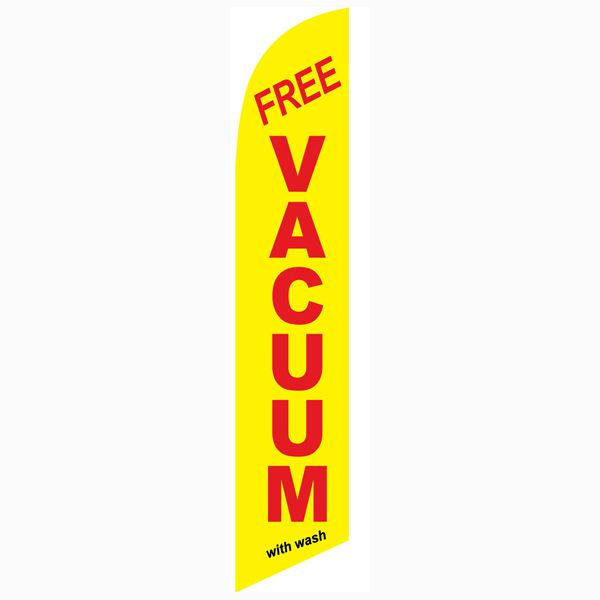 Low-cost and high quality outdoor advertising yellow Free vacuum with wash banner flag