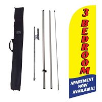 3 bedroom available yellow Flag Kit w/ Ground Stake and Travel Bag