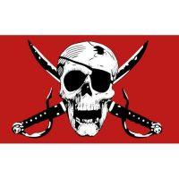 Crimson Pirate Flag