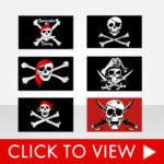 3x5 Stock Pirate Flags