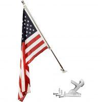3×5 Tangle-Free Flag Pole and Mount, Premium Aluminum Telescopic Pole, Compatible with 2×3′ Custom Flags