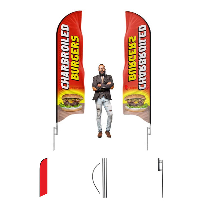 $49 Feather Flag Kit Special | Includes Flag Pole & Ground Stake Mount