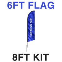 6ft Feather Flag - 8ft Kit