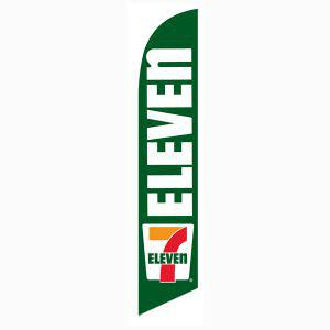 7-11 Eleven feather flag as your outdoor advertising banner