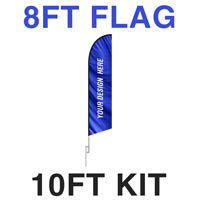 8ft Feather Flag - 10ft Kit