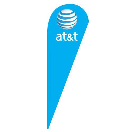 AT&T Wireless light blue Teardrop Flag