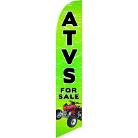 ATVS For Sale Feather Flag Kit with Ground Stake