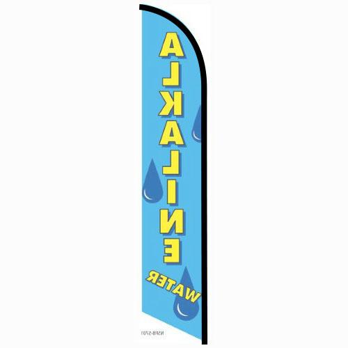 Alkaline Water feather flag