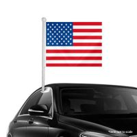 American USA Window Clip-on Flag