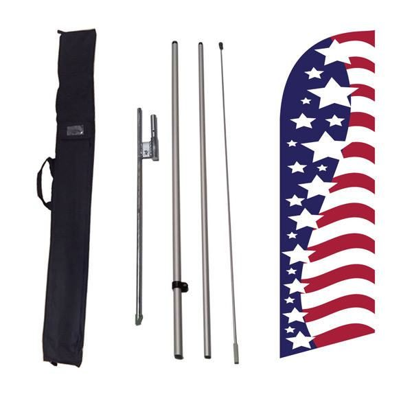 Our popular small American glory feather flag is great for outdoor decorations