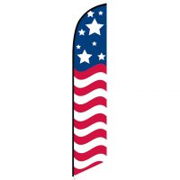 American Glory (stars top) Feather Flag