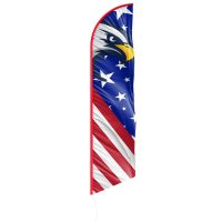 American Glory with Eagle Feather Flag