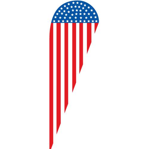 [OUT OF STOCK] American USA Banner Teardrop Flag